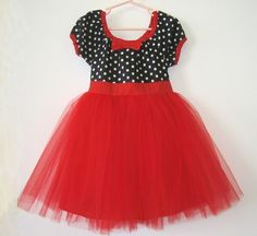 TUTU PARTY  DRESS in black and white polka by loverdoversclothing, $44.00