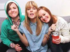These women.. Hannah Hart (My Drunk Kitchen), Grace Helbig (DailyGrace) and Mamrie Hart (You Deserve A Drink) :)