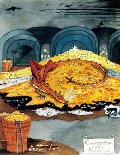 Smaug, from The Hobbit. Illustration by J.R.R. Tolkien