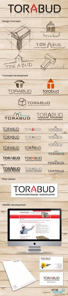 Torabud - logo design process.