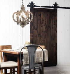 Hallway or Powder Room $295 White Distressed Painted 6 Light Chandelier 19W x 24H