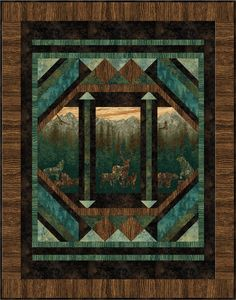 Nature Quilt Pattern by Nine Mile Patterns at Creative Quilt Kits Quilting Projects, Quilting Designs, Quilting Ideas, Fabric Panel Quilts, Fabric Art, Wildlife Quilts, Southwest Quilts, Attic Window Quilts, Big Block Quilts