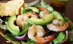 Shrimp and Avocado Salad Healthy and ideal for lunch.