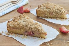 Crumb cake with Strawberries and Rhubarb (two of my favorite things) from @Susan Salzman(The Urban Baker)