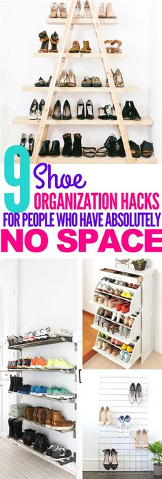These 9 Shoe Organization Hacks Are MEANT FOR PEOPLE WITH DOGS! I so need to try these out since my dog keeps eating my shoes!