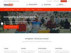VisaHub - Immigration #Consulting #WordPress #Theme #lawyer #immigration #webdesign #seo #marketing Seo Marketing, Lawyer, Wordpress Theme, Coaching, Web Design, How To Apply, Business, Training, Design Web