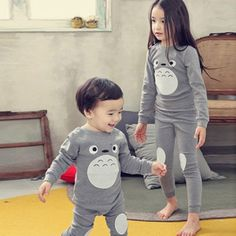25a53a700e Children Clothes Kids Clothing Set Boys Girls Pajamas Sets