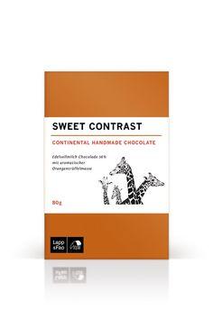 Sweet Contrast - Edelvollmilch mit aromatischer Orangentrüffelmasse 80g Online kaufen
