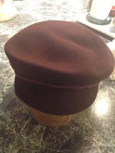 Brown fur  Felt Cap by MinaLucinda on Etsy, $25.00