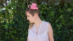 Pink Fascinator Pink Fascinator, Ruffle Blouse, Trending Outfits, Unique Jewelry, Handmade Gifts, Clothes, Etsy, Vintage, Women