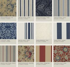 """Ralph Lauren Home Archives, """"La Plage"""" Fabric Swatches, Spring 2010"""