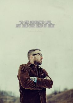 City and Colour, one of my idols. Dallas Green, hence City and Colour.Dallas is a city and green is a color Sound Of Music, Listening To Music, Music Is Life, Good Music, Music Lyrics, Music Quotes, Me Quotes, City And Colour, Color