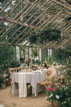 Secret Garden Wedding Inspiration at an Century Irish Greenhouse - Green We. - Secret Garden Wedding Inspiration at an Century Irish Greenhouse – Green Wedding Shoes - # The Secret Garden, Secret Garden Parties, Secret Gardens, Greenhouse Wedding, Greenhouse Gardening, Greenhouse Ideas, Garden Wedding Decorations, Wedding Themes, Wedding Ideas