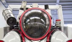 Submersible Exosuit lets divers plunge to 1,000 ft below the surface and return without decompression - - - The Exosuit uses a series of rotary joints in order to allow the pilot a high degree of flexibility (Photo: Nuytco Research)