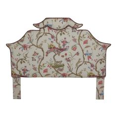 Chinoiserie Print Upholstered Queen Size Headboard For Sale Headboards For Sale, Bed Furniture, Home Decor Furniture, Furniture Design, Asian Inspired Bedroom, Queen Size Headboard, High Quality Furniture, Chair Fabric