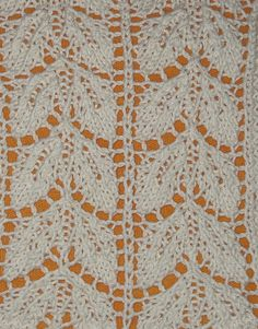 Yarn: Rowan Wool Cotton  Needles: 3.5mm, US 4  Gauge: 5 stitches per inch (stockinette)  Pattern: Beech Leaf Pattern  Stitch Count Repeat: Multiple of 14sts  Book: A Treasury of Knitting Patterns  Page: 216    Knit by: ShelbyD