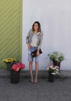 Subtle Contrast | My Urban Flower Stand | Must Try Spring Double-Denim | Front Roe by Louise Roe