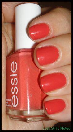 Essie Mango Bango -- My favorite Essie color Essie Nail Colors, Essie Nail Polish, Lipstick Colors, Nail Polishes, Mango, Coral Nails, Beauty Make Up, Swatch, Nail Art