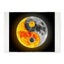 Awesome Ying Yang Products 5'x7'Area Rug for