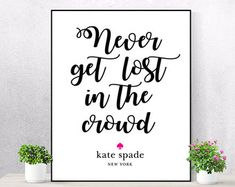 Kate spade quote | Etsy