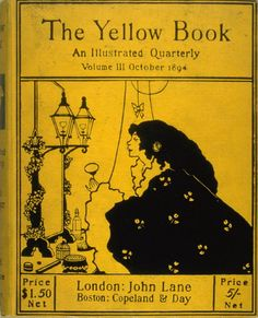 Aubrey Beardsley ~ Cover for 'The Yellow Book' Vol. III October 1894 ~ 1894