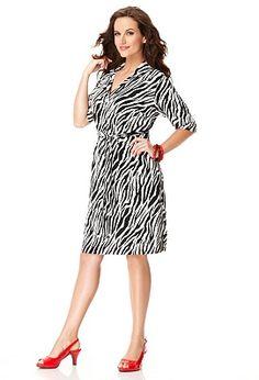 91236a67dbe1e Plus Size Animal Print Shirt Dress