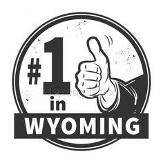 Sello de goma del grunge abstracto con el texto número uno en Wyoming Vectores De Stock Sin Royalties Gratis