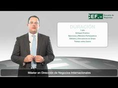 Máster Profesional en Dirección de Negocios Internacionales (Oficial): http://www.cef.es/Master-MBA-Relaciones-Negocios-Internacionales.asp