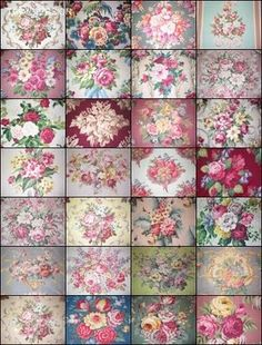 Niesz Vintage Home.and fabric Shabby Cottage, Shabby Chic, Best Flower Pictures, Fabric Patterns, Floral Patterns, Decoupage Paper, Antique Roses, Fabric Wallpaper, Rose Design