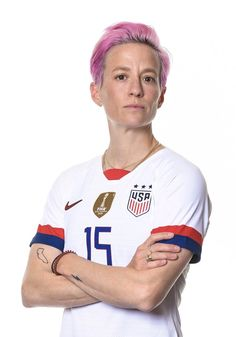 Megan Rapinoe #15, USWNT, Official FIFA Women's World Cup 2019 Portrait Megan Rapinoe, Fifa Women's World Cup, One Team, First Nations, Powerful Women, Sports News, Stylists, Soccer, Football