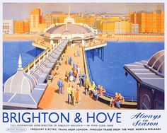 SUSSEX Brighton and Hove, Railway Posters3