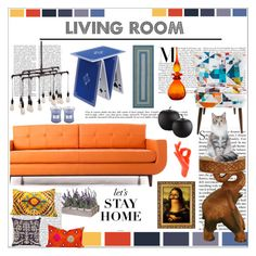 """""""Living Room"""" by pattyboombr ❤ liked on Polyvore featuring interior, interiors, interior design, home, home decor, interior decorating, Joybird Furniture, CB2, Villa Home Collection and Zuo"""