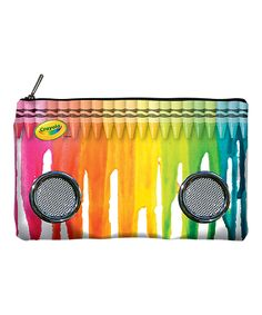 Love this Crayola Melted Crayon Pencil Case Speaker by Crayola on Crayola, Pencil Bags, Melting Crayons, 2 Colours, Crayon Ideas, Fun, Kids, Art Supplies, Coloring
