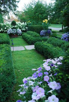 front-yard-garden  -  Linda Broughman via  Cathleen Paneitz onto Gardening - links to very nice garden, blog