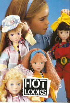 "Hot Looks International Models | Made by: Mattel (1986–1988) What the heck were they: The short-lived line included five 19"" dolls (who were models) — each representing a different nationality."