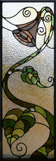 Leaded Glass Panels - This looks like it needs a fairy landing on the plant Stained Glass Flowers, Stained Glass Designs, Stained Glass Projects, Stained Glass Patterns, Leaded Glass Windows, Stained Glass Panels, Stained Glass Art, Mosaic Art, Mosaic Glass