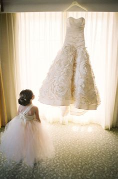 Flower girl in total awe Photography by: http://virgilbunao.com/ / Wedding Dress by: http://www.amsale.com/