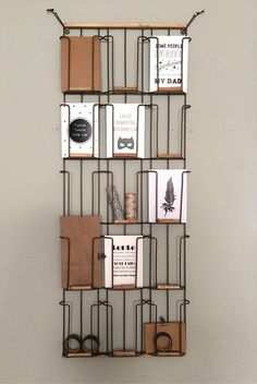 Do something like this with wire/metal green display rack for movies/games-side ways or straight Workspace Inspiration, Living Room Inspiration, Industrial House, Home And Family, Sweet Home, New Homes, Interior Design, Furniture, Home Decor