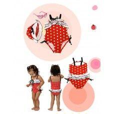 Red Polka Dot  Girl's Swimsuit  $40