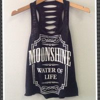 Moonshine Cut Tank Top