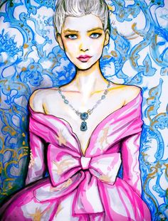 Christian Dior Haute Couture Spring 2011 8inx11in Color Art Print