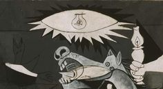 going to get the eye from Guernica. with a grey rectangle around it