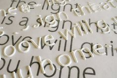 Raised Letters w/ Mod Podge. Inspiration file: How to Make Raised Letters for Crafting {via Virginia & Charlie}