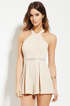 Contemporary High-Neck Romper | Forever 21 - 2000185396