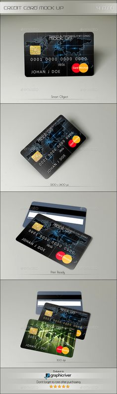 Credit Card Mock Up — Photoshop PSD #1023x638 #money • Available here → https://graphicriver.net/item/credit-card-mock-up/13583916?ref=pxcr