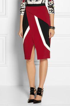 Peter Pilotto Farah wrap-effect crepe skirt NET-A-PORTER.COM