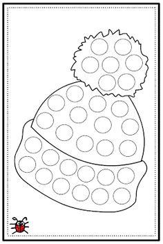 Actividades para Educación Infantil: 8 fichas para trabajar la motricidad fina en invierno Winter Crafts For Kids, Art For Kids, Hat Day, Hat Crafts, Cute Monsters, Finger Painting, Preschool Worksheets, Pre School, Coloring Pages