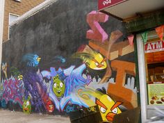 Angry Birds graffiti (photo cred bitchcakesny/flickr)