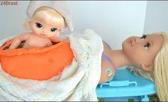 Barbie Gravida come tudo e vai para Hospital para ter Bebes!!! Em Portugues TotoyKids