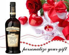 Personalized Forty Creek Whiskey Gold Labels. by MagicLabels